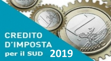 Agevolazione Credito di imposta 2019 (Bonus Sud)