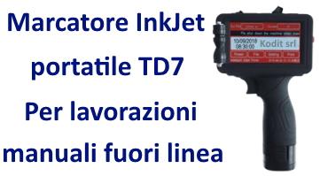 Marcatore InkJet portatile TD7
